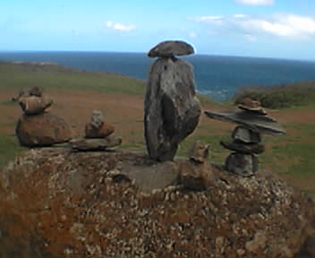 Cairn at Nakelele Blowhole